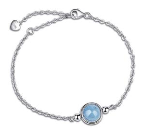 bracelet en aigue marine