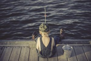 pêcher le poisson-chat avec une canne anglaise