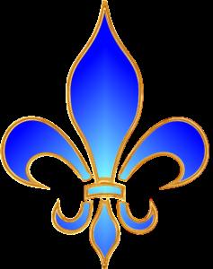 symbole de la fleur de lys en bleu