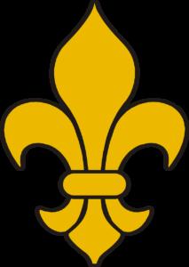 symbole de la fleur de lys en jaune