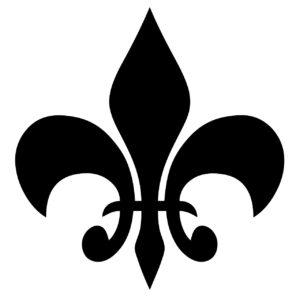 symbole de la fleur de lys en noir