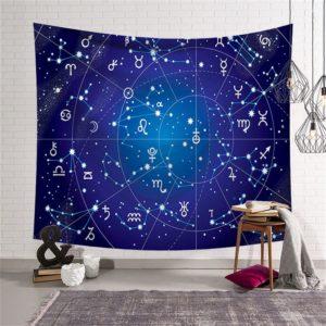 La tenture des constellations et singes du zodiaque associés