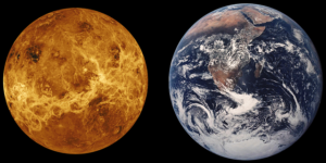 étoile du berger et la planète Terre