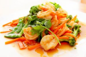 plat de crevettes