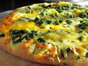 pizza feu de bois épinard
